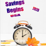 Event Poster -Daylight Savings starts USA - 2020 - fillable