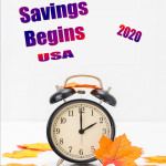Event Poster -Daylight Savings starts USA - 2020 - no date