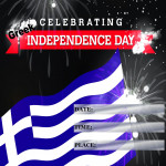 Event Poster - Greek Ind. Day - 2020 - fillable