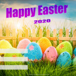Event Poster- Happy Easter - 2020 - fillable