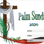Event Poster- Palm Sunday - 2020 - fillable