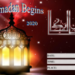 Event Poster - Ramadan Begins - 2020 - fillable