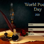 Event Poster - World Poetry Day - 2020 - fillable