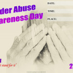 Event Poster -Elderly Abuse Awareness Day - 2020 - fillable
