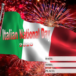 Event Poster - National Italian Day - 2020 - fillable