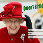 Event Poster - Queens Birthday - 2020 - fillable