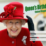 Event Poster - Queens Birthday (UK) - 2020 - fillable