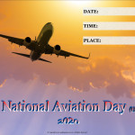 Event Poster - National Aviation Day (USA) - 2020 - fillable