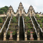 Beautiful steps in Lempuyang temple. Bali. Indonesia.