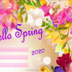 Event Poster - Hello Spring - 2020 - fillable