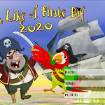 Event Poster - Talk like a Pirate Day 2 - 2020 - fillable