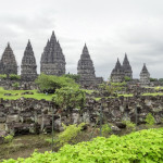 Hindu temple named Candi Prambanan located in Java, a island of Indonesia