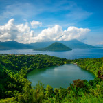 Laguna Lake At Ternate City, Maitara and Tidore Island, North Maluku, Indonesia