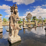 Statue at the Tirtagangga Water Palace in Bali, Indonesia.